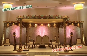 Hand Carved Wooden Mandap