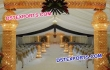 Wedding Gold Crystal Welcome Gate
