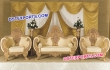 Golden Carved Wedding Furniture Set