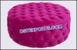 Wedding Hot Pink Leather Tufted Round Coffee Table