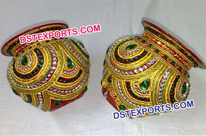 Wedding Shagun Decorated Pots