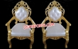 Gold Plated Bride Groom Designer Chairs