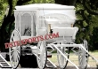 White  Covered  Horse  Carriages For Wedding