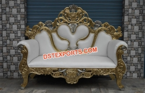 Maharaja Wedding Metal Carved Sofa