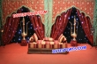 Wedding Mehndi Stage Temple Embroidered Backdrop