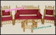 Hand Craft Wedding Sankheda Sofa Set