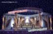 Fiber Jali Crystal Pillars mandap Set