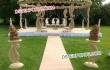 Outdoor Wedding Wooden Paisley Mandap Set