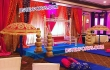 Colourful Wedding Mehandi Stage Decor
