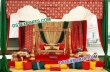 Gorgeous Wedding Mehndi Stage With Traditional Swing