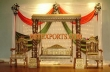 Wedding Golden Carved Swing With Chairs