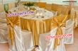 Beautiful Golden Chair Cover And Sashes