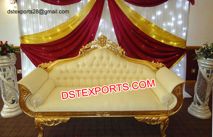 Golden Wedding Throne Love Seater