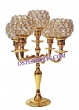 Wedding Brass Metal Crystal Candelabra