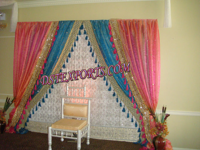 Embrodried Colour Full Backdrop For Wedding