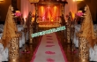 Golden Fiber Carved Wedding Pilars