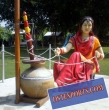 Traditional  Punjabi Lady Statue With Madhani