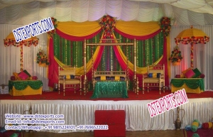 Latest Punjabi Muslim Mehandi and sangeet stage decorations