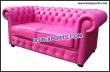 Wedding Pink Leather Two Seater Sofa