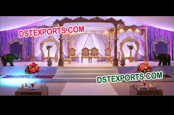 Traditional Wedding Wood Mandap