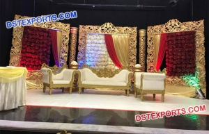 Stylish Look Stage Decoration For Wedding