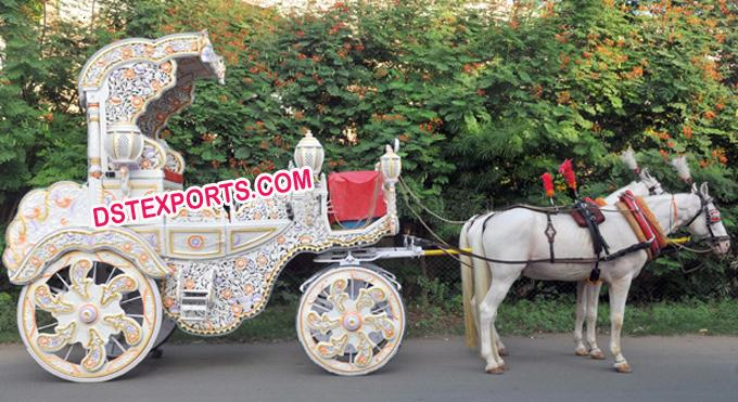 Indian  Wedding  Carved  Buggy
