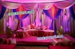 Colorful Mehndi Stage For Indian Wedding