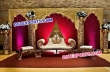 Gold Wedding Stage With Cutout Backdrop