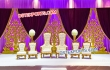 Gold Metal Bride Groom Long Chairs Set