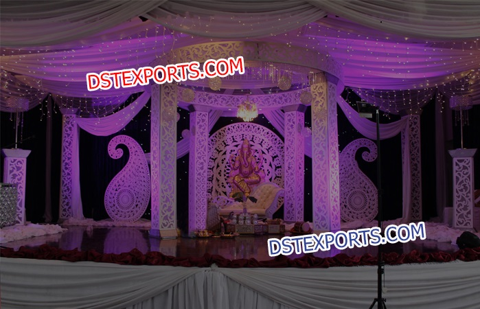 Fiber Square Pillar Wedding Mandap