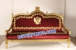 Wedding  Gold  Maroon  Love  Seater