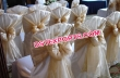 Wedding Chair Cover With Golden Tie Back