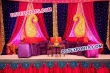Asian Wedding Mehandi Stage With Beautiful Backdrop