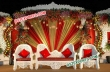 Royal Wedding Decor Stage With White Furniture