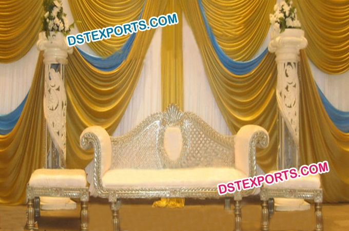 Fiber Pillar Asian Wedding Stage Furniture