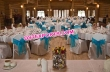 Wedding Chair Cover With Blue Sashas