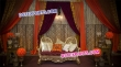 Golden Candle Backdrop Stage