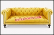 Wedding Yellow Leather Sofa With Tufted Seat
