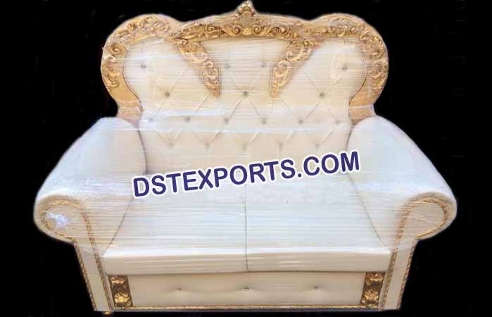 Wedding Leather Tufted Sofa