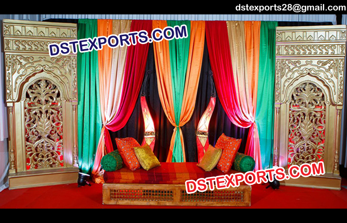 Mehandi Sangeet Stage With Panels