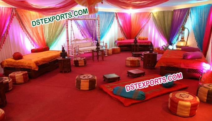 Latest Full Mehandi Stage With Swing