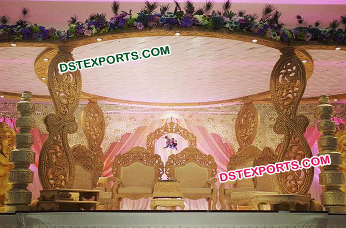 Indian Wedding Woodden Carrys Mandap