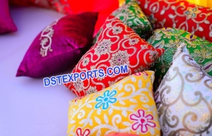 Asian colourful embrodried cushion covers