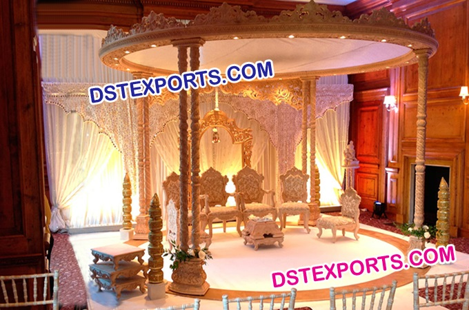 Indian Wedding Wooden Spiral Mandap