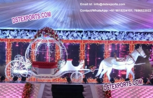 Wedding Stage With Cinderella Carriage