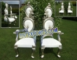 Indian  Wedding Bride Groom Silver Chairs