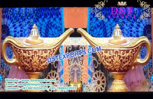 Aladdin Lamps Decoration For Wedding Stage