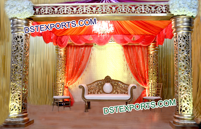 Wedding Jali Fiber Mandap Set
