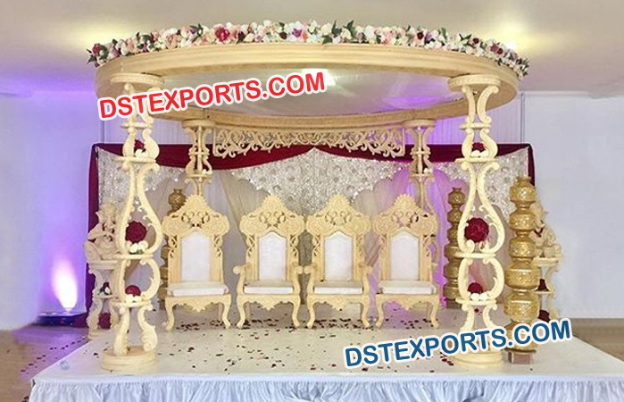 Wooden Carved Ceremony Mandap