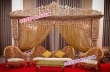 Indian Wedding Bollywood Golden Carved Stage